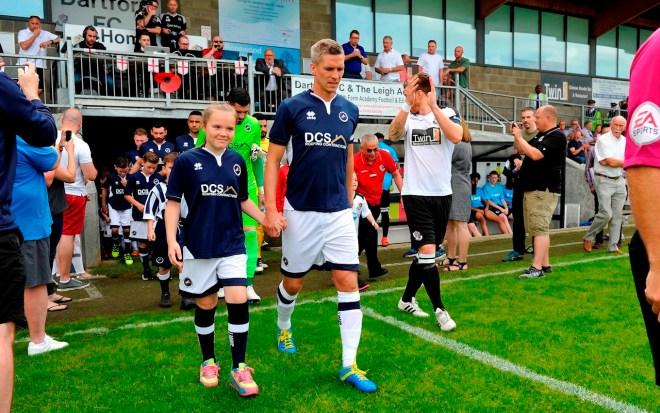 Dartford Vs Millwall - Teams walk out